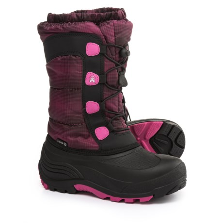 Kamik Moonracer Snow Boots (For Little and Big Kids) in Magenta