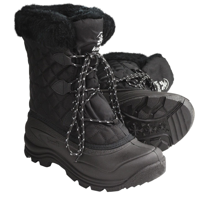 Black Waterproof Snow Boots Ladies | Homewood Mountain Ski Resort