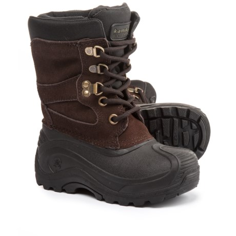 Kamik Nation Jr. Pac Boots - Waterproof, Insulated (For Toddlers) in Dark Brown/Brun Fonce