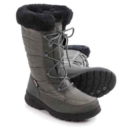 Kamik Newyork2 Winter Snow Boots - Waterproof, Insulated (For Women) in Charcoal - Closeouts
