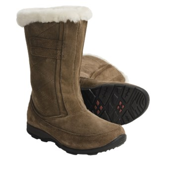 Kamik Northbay Quilted Suede Winter Boots - Waterproof, Insulated (For Women) in Taupe