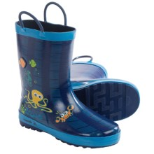 Kamik Octopus Rubber Rain Boots - Waterproof (For Little Kids) in Dark Blue - Closeouts