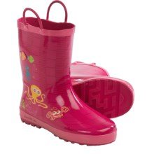Kamik Octopus Rubber Rain Boots - Waterproof (For Little Kids) in Rose - Closeouts