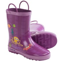 Kamik Octopus Rubber Rain Boots - Waterproof (For Toddlers) in Dewberry - Closeouts