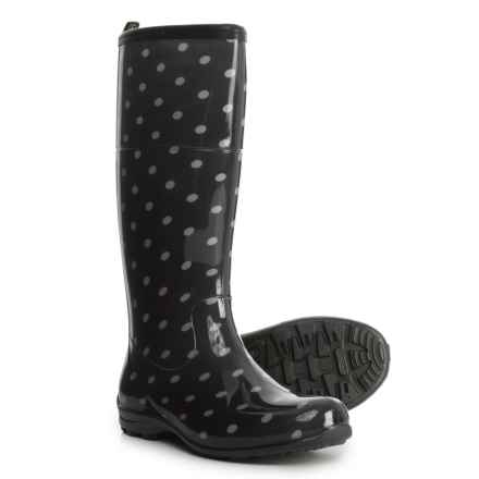 Kamik Pepper Tall Printed Rain Boots - Waterproof (For Women) in Black Dot - Closeouts