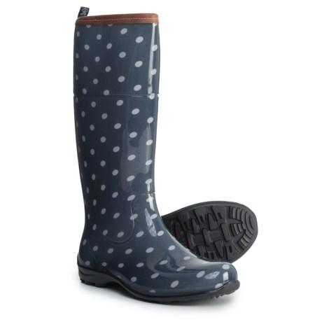 Kamik Pepper Tall Printed Rain Boots - Waterproof (For Women) in Navy Dot