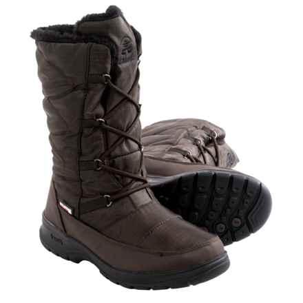 Kamik Phoenix Snow Boots - Waterproof, Insulated (For Women) in Dark Brown - Closeouts