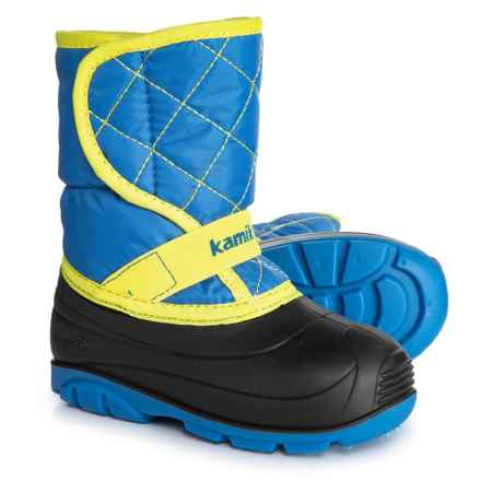 Kamik Pika 2 Snow Boots - Waterproof (For Toddler Boys) in Blue - Closeouts