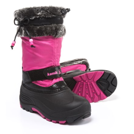 f1c9e4e03fb Kamik Plume Pac Boots - Waterproof, Insulated (For Girls) in Magenta -  Closeouts