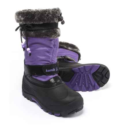 Kamik Plume Pac Boots - Waterproof, Insulated (For Girls) in Purple - Closeouts