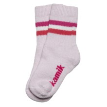 Kamik Powder ThermoCool Socks - Merino Wool, Midweight, Crew (For Girls) in Primrose Pink - Closeouts