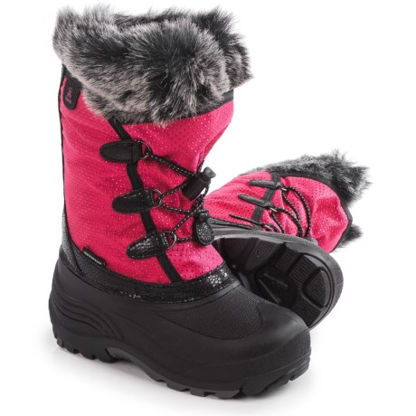 Kamik Powdery Pac Boots - Insulated (For Little and Big Kids) in Rose
