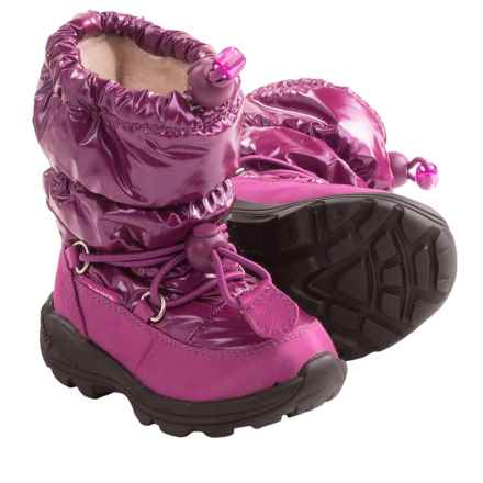 Kamik Prancer Snow Boots - Waterproof (For Toddlers) in Berry - Closeouts