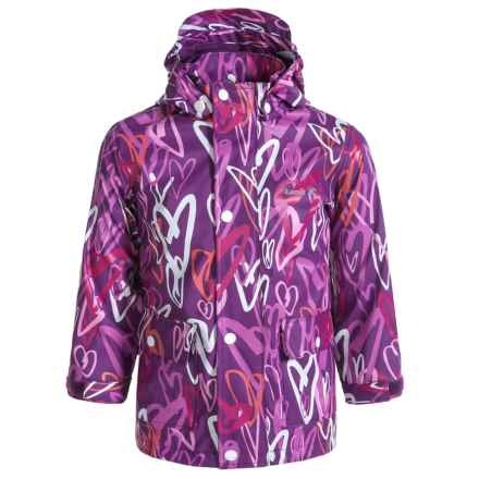 Kamik Printed Rain Jacket - Waterproof (For Little Girls) in Vibrant Viola - Closeouts