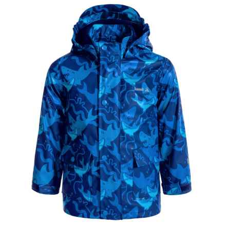 Kamik Printed Rain Jacket - Waterproof, Jersey Lined (For Little Boys) in Blue Depths - Closeouts