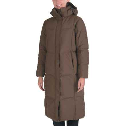 Kamik Puff Long Down Coat - 595 Fill Power (For Women) in Dark Brown - Closeouts