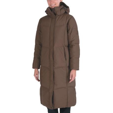 Kamik Puff Long Down Coat - 595 Fill Power (For Women) in Dark Brown