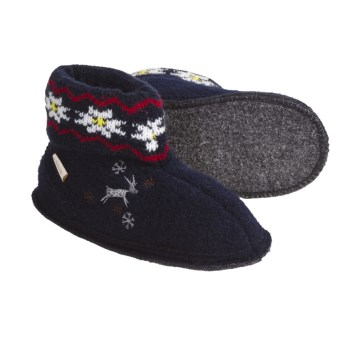 Kamik Reindeer Booties - Boiled Wool (For Kids And Youth) in Navy