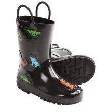 Kamik Rex Rain Boots - Waterproof, Rubber (For Kids and Youth) in Black - Closeouts