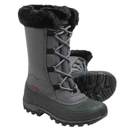 Kamik Rival Snow Boots - Waterproof, Insulated (For Women) in Charcoal/Black - Closeouts