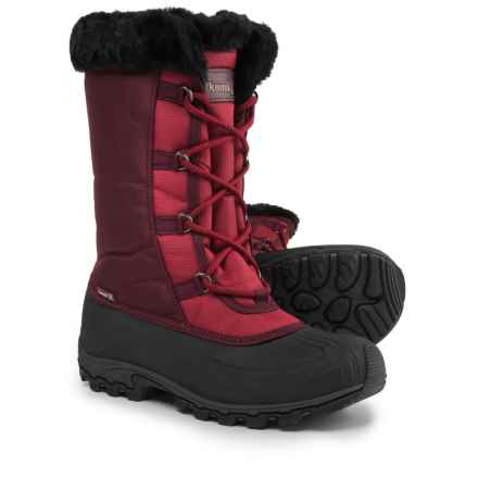 Kamik Rival Snow Boots - Waterproof, Insulated (For Women) in Deep Red - Closeouts