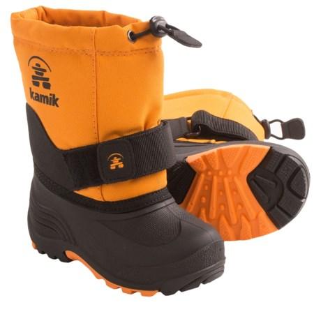 Kamik Rocket Winter Boots (For Little Girls) in Mandarin Orange