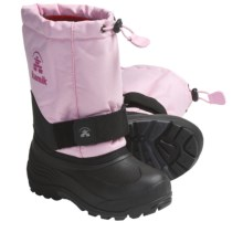 Kamik Rocket Winter Boots (For Youth Girls) in Light Pink - Closeouts