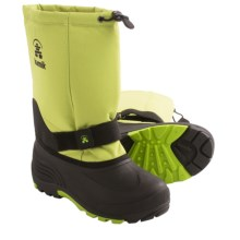 Kamik Rocket Winter Boots (For Youth Girls) in Lime - Closeouts