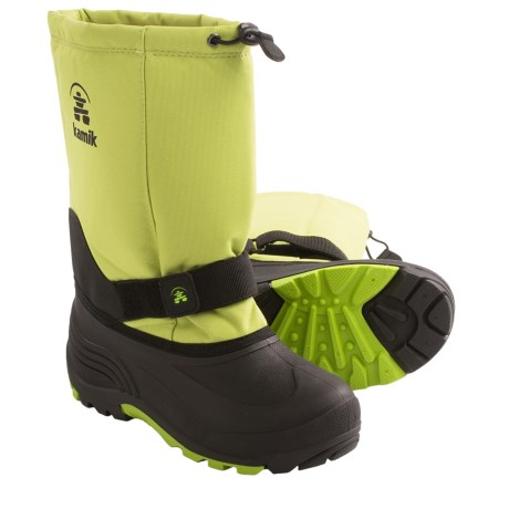 Kamik Rocket Winter Boots (For Youth Girls) in Lime