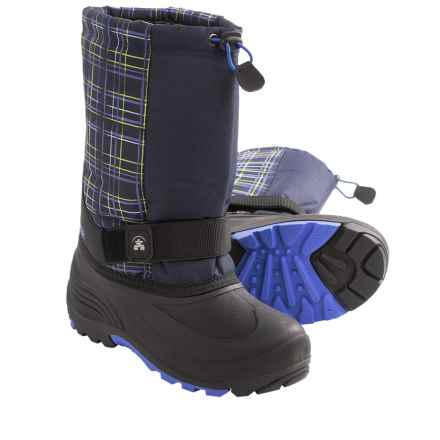 Kamik Rocket2 Winter Boots - Waterproof (For Youth Boys and Girls) in Navy Plaid - Closeouts