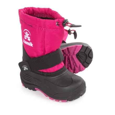 Kamik RocketW Pac Boots - Waterproof, Wide Width (For Kids) in Rose - Closeouts
