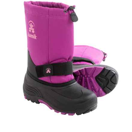 Kamik RocketW Pac Boots - Waterproof, Wide Width (For Kids) in Viola - Closeouts