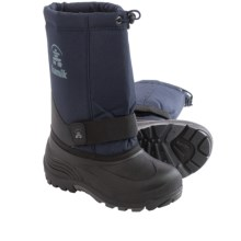 Kamik RocketW Pac Boots - Waterproof, Wide Width (For Little and Big Kids) in Navy - Closeouts