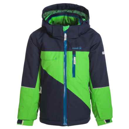 Kamik Rufus Color-Block Ski Jacket - Waterproof, Insulated (For Little Boys) in Classic Green - Closeouts
