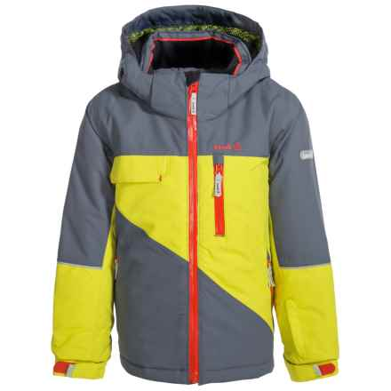 Kamik Rufus Color-Block Ski Jacket - Waterproof, Insulated (For Little Boys) in Sulphur/Gray - Closeouts