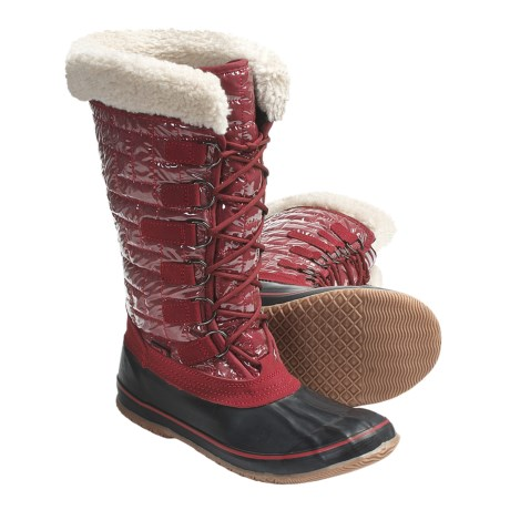 Kamik Scarlet Winter Pac Boots - Insulated, 200g Thinsulate® (For Women) in Burgundy