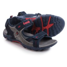Kamik Seahorse Sport Sandals - Suede (For Men) in Navy - Closeouts