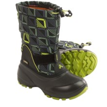 Kamik Shadow5 Gore-Tex® Pac Boots - Waterproof (For Little Kids) in Lime - Closeouts