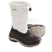 Kamik Shimmer Snow Boots - Waterproof (For Kids) in Ivory - Closeouts