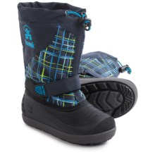 Kamik Skiland2 Pac Boots - Waterproof, Insulated (For Little and Big Kids) in Navy Plaid - Closeouts