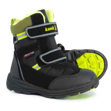 Kamik Slate Snow Boots - Waterproof, Insulated (For Boys) in Black - Closeouts