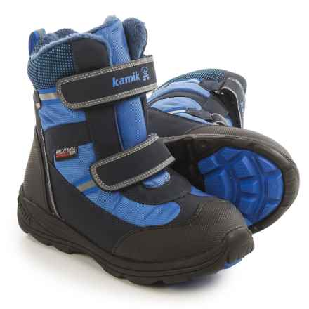 Kamik Slate Snow Boots - Waterproof, Insulated (For Little and Big Kids) in Blue - Closeouts