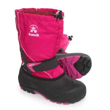 Kamik Sleet Pac Boots - Waterproof, Insulated (For Little and Big Kids) in Rose - Closeouts