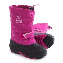 Kamik Sleet Pac Boots - Waterproof, Insulated (For Toddlers) in Magenta - Closeouts