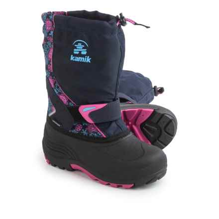Kamik Sleet2 Pac Boots - Waterproof, Insulated (For Little and Big Kids) in Navy/Magenta - Closeouts