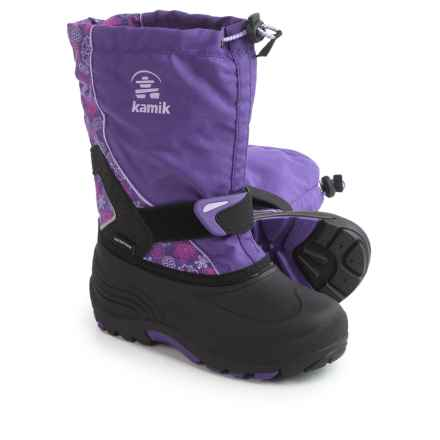 Kamik Sleet2 Pac Boots - Waterproof, Insulated (For Little and Big Kids) in Purple/Lilac - Closeouts