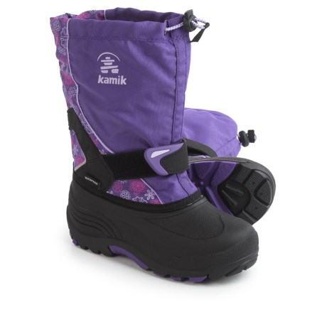 Kamik Sleet2 Pac Boots - Waterproof, Insulated (For Little and Big Kids) in Purple/Lilac