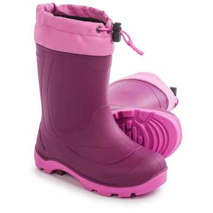 Kamik Snobuster1 Pac Boots - Waterproof (For Little and Big Girls) in Berry - Closeouts