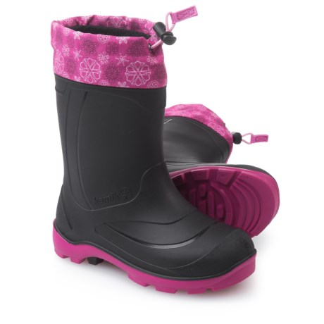 Kamik Snobuster2 Pac Boots - Waterproof, Insulated (For Big Girls) in Magenta/Pink