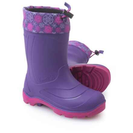 Kamik Snobuster2 Pac Boots - Waterproof, Insulated (For Big Girls) in Purple/Magenta/Mauve - Closeouts